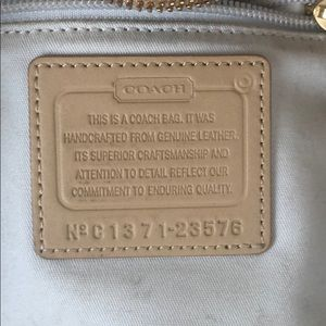 Coach Bags - Coach Saffiano Leather East West Tote (Camel)